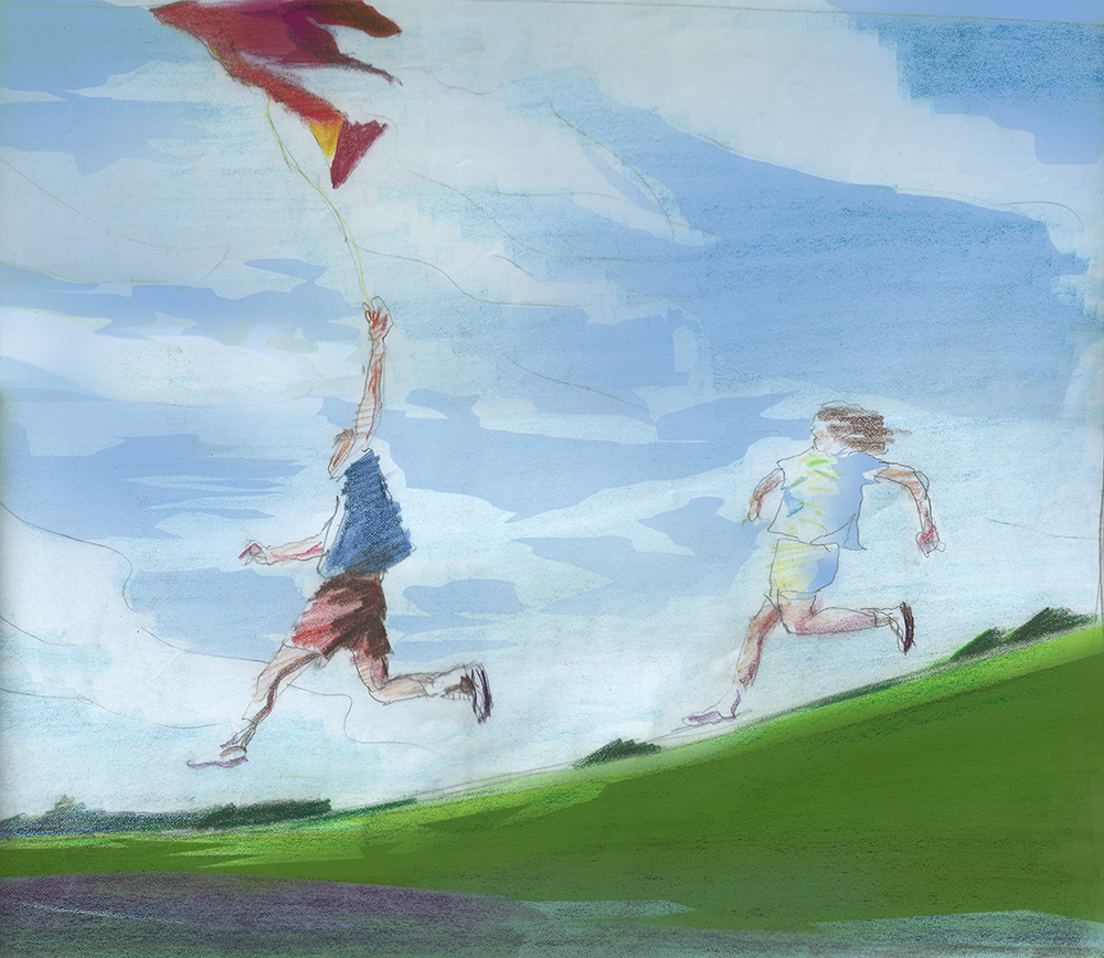 David Reed-Flying the Kite